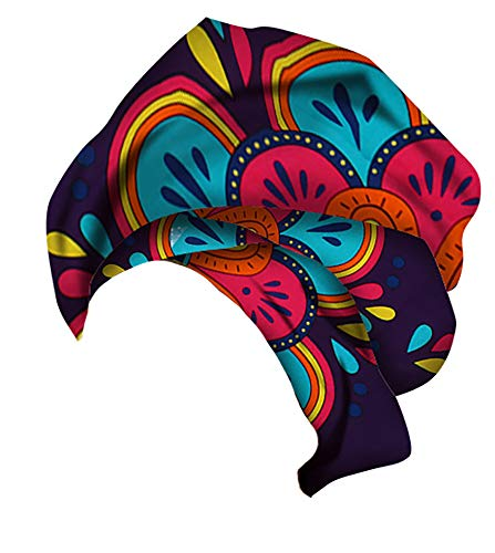 (Ababalaya Women's Extra Long African Traditional Print Head Scarf Wrap Tie 35×43 inch,26)