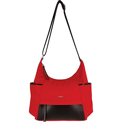 d9018d5f28 Amazon.com  Lodis Kate Nylon Under Lock   Key Olga Hobo (Red)  Shoes