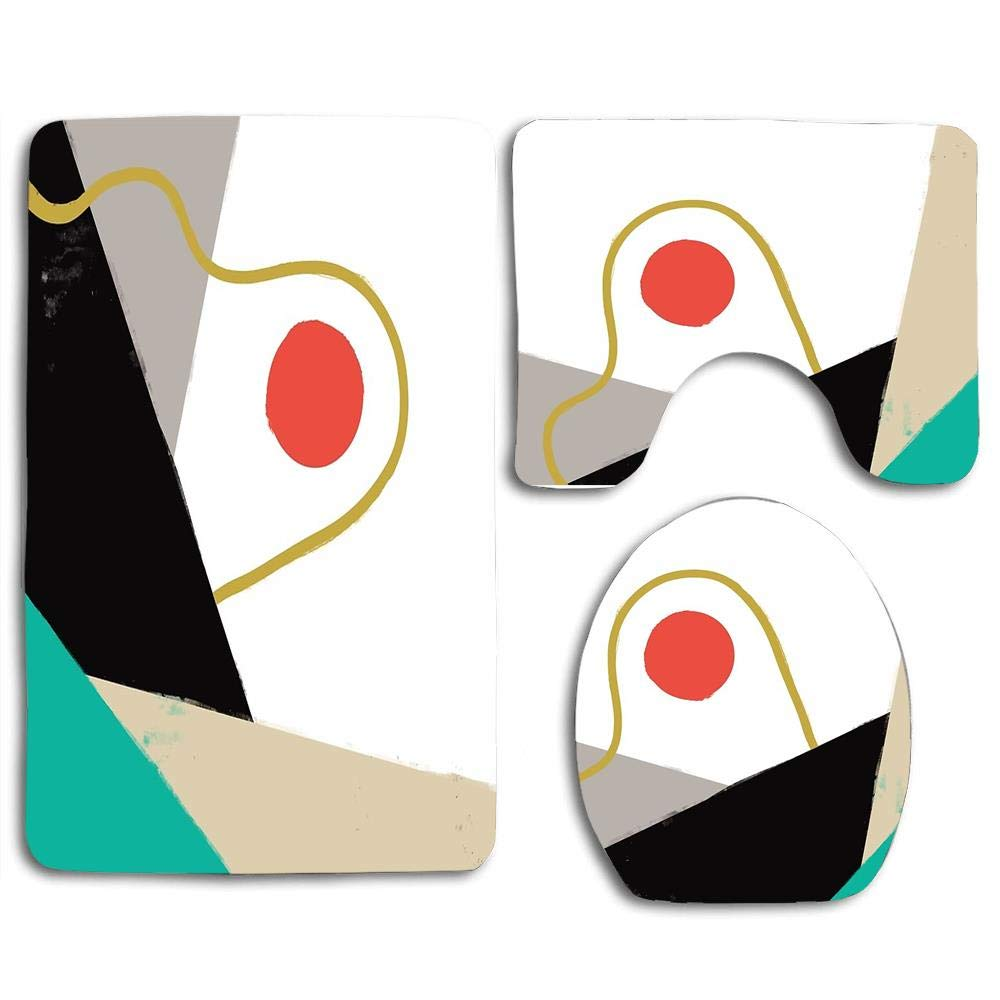 Amazon.com: Alfombra de baño decorativa, juego de 3 piezas ...