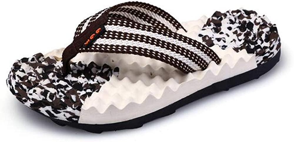 Comfortable Mens Beach Flip Flop Sandals Waterproof Bag Memory Foam Flip Flops for Men