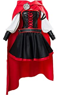 RWBY 3 Season Battler Costume Ruby Rose Cosplay Dress Halloween Uniform Suit