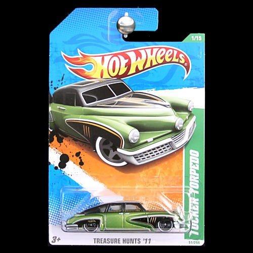 Hot Wheels 2011 Treasure Hunts 1 / 15 Collector # 51 051 - Tucker Torpedo Green (Torpedo Tucker)