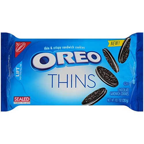 Oreo Thins Chocolate Sandwich Cookies (10.1-Ounce Packages, 12-Pack)