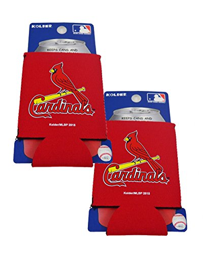 Official Major League Baseball Fan Shop Authentic 2-Pack MLB Insulated 12 Oz Can Cooler (St. Louis Cardinals)