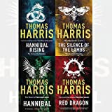 Thomas Harris Hannibal Lecter Series 4 Books Bundle Collection (Red Dragon,Hannibal,Silence Of The Lambs,Hannibal Rising)