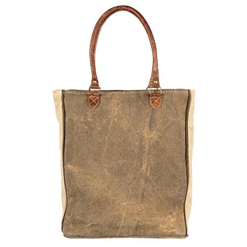 Clayre & Eef Tasche Schultertasche 35*8*40 cm Braun Baumwolle JZBG0082