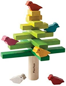 PlanToys Wooden Balancing Tree Learning Toy (5140) | Sustainably Made from Rubberwood and Non-Toxic Paints and Dyes