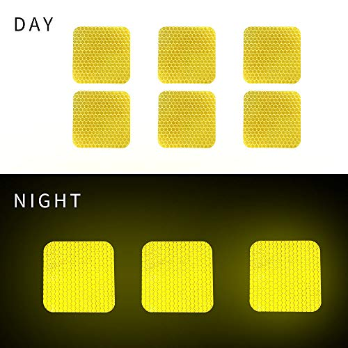 Square shape Reflective Tape Self Adhesive Warning Tape For Trucks Trailers Car Park Waterproof Self-Adhesive Trailer Reflector Tape-Reflective Tape 20 packs Yellow