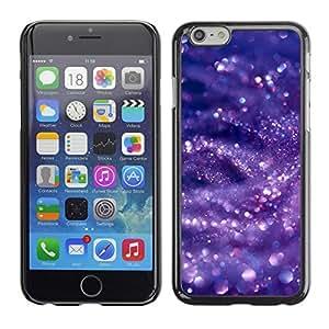 Cubierta de la caja de protección la piel dura para el Apple iPhone 6 (4.7) - purple blue glitter water shining
