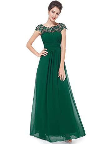 966b0082ff63 Ever-Pretty Womens Cap Sleeve Lace Neckline Ruched Bust Evening Gown 09993