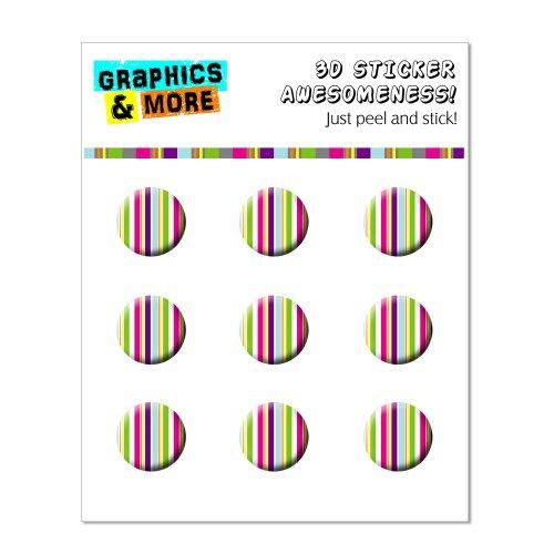 Graphics and More and more yuppy rayas de colores pegatinas de botón de inicio compatible con Apple iPhone 4/4S/5/5°C/5S,...