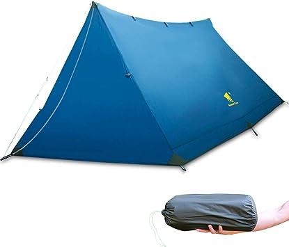 GEERTOP 2-Personas 3 Estaciones 20D Ligero a Prueba de Agua Al Aire Libre Camping y Mochilero Tienda de Campaña para Escalada Escalada Montañismo ...