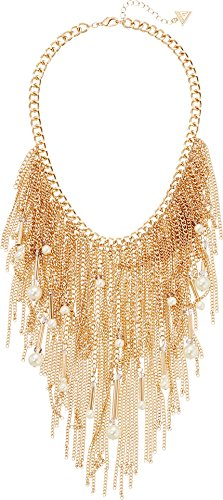 Guess Pearl (GUESS Fringe Beads Chain Necklace)