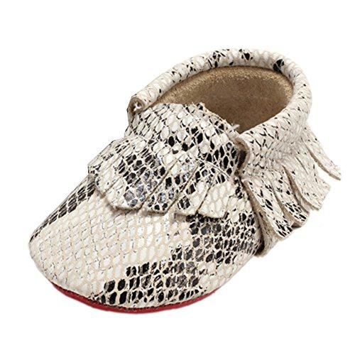 Leap Frog Snake Print Moccasins Boots - Zapatos primeros pasos de Material Sintético para niño Beige