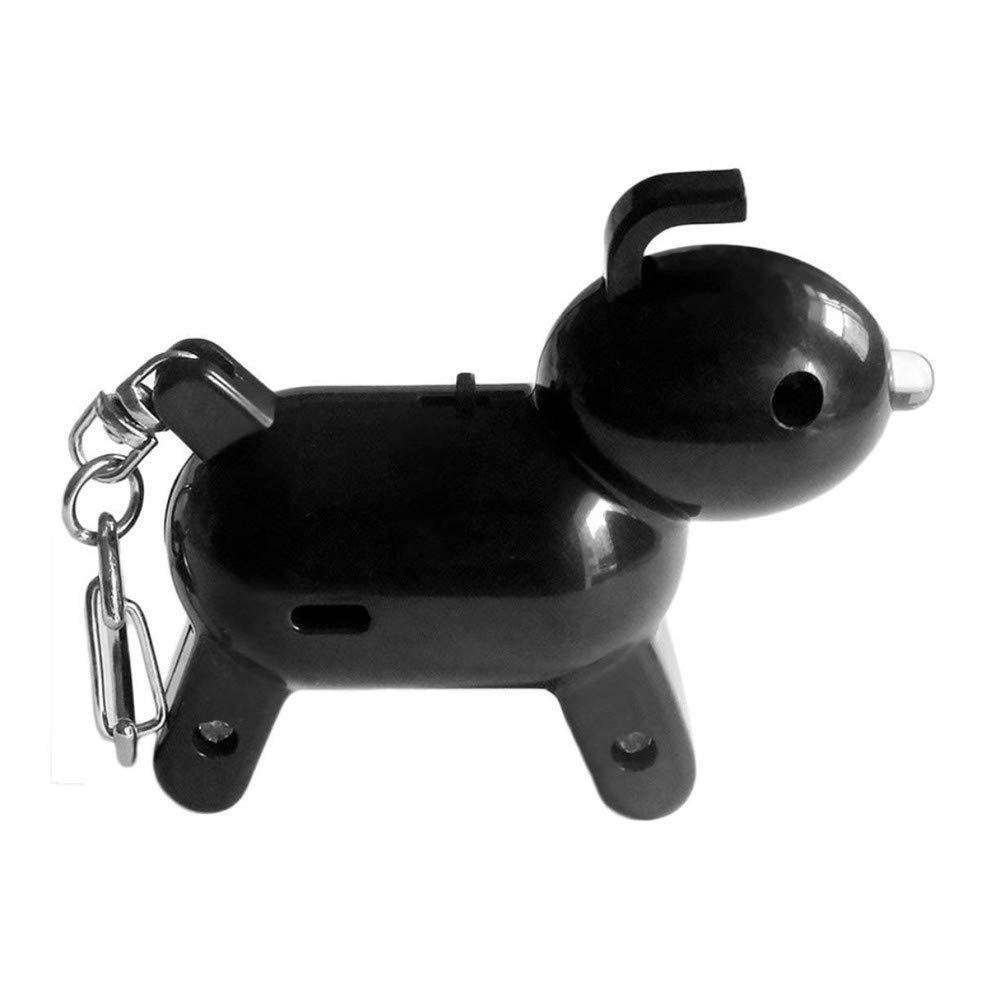 SUKEQ Cute Puppy Shape Finder Bluetooth Tracking Locator Child Pet GPS Locator Alarm Key Tracker for iPhone Android (Black)