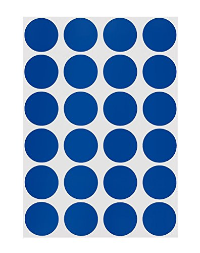 - ChromaLabel 3/4 inch Color-Code Dot Labels on Sheets | 1,008/Pack (Dark Blue)