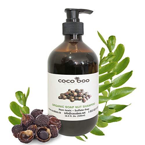 COCOBOO - Soap Nut Shampoo, Organic, Non-toxic, Nut-Allergy Safe, 17 Oz