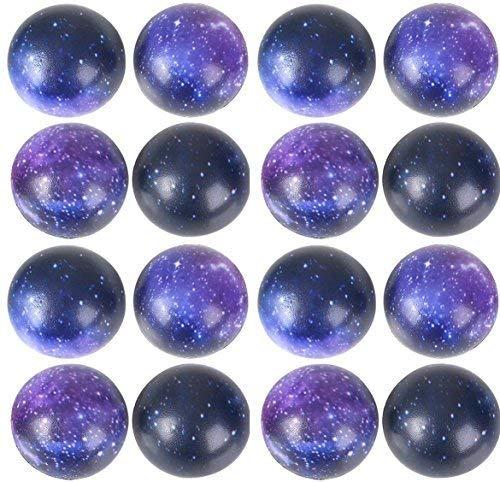 Space theme GALAXY Stress Balls Bulk pack (50 Pack) Stress Relax Toy Balls, Ball Assortment ()