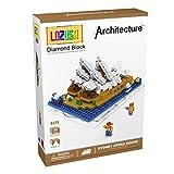 LOZUSA Sydney Opera House 520 PCS Diamond Block Micro Blocks Architecture Construction Model, Micro-sized Building Set Parent-child Games Building Blocks Children's Educational Toys