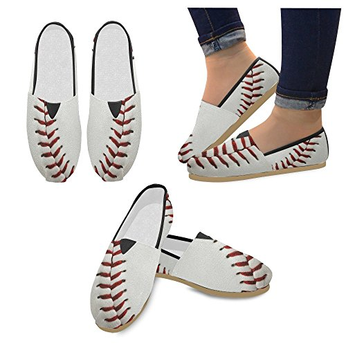 M-story Fashion Sneakers Flats Womens Classic Slip-on Canvas Mocassini Da Baseball