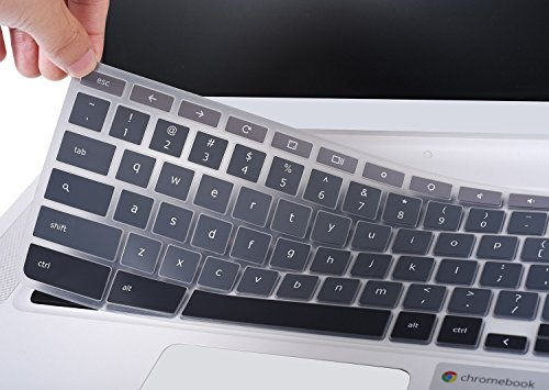 For Acer Chromebook 14 Keyboard Cover, Ultra Thin Anti Dust Keyboard Skin for Acer Chromebook 14 CB3-431 CP5-471 14-inch Chromebook US Layout, Gradual Grey