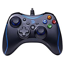 Zhidong N Full Vibration Feedback USB Wired Controller Gamepad Joystick For Windows XP/7/8/8.1 & Android & PS3 (Xbox360 Style) Black&Blue - Not support the Xbox 360
