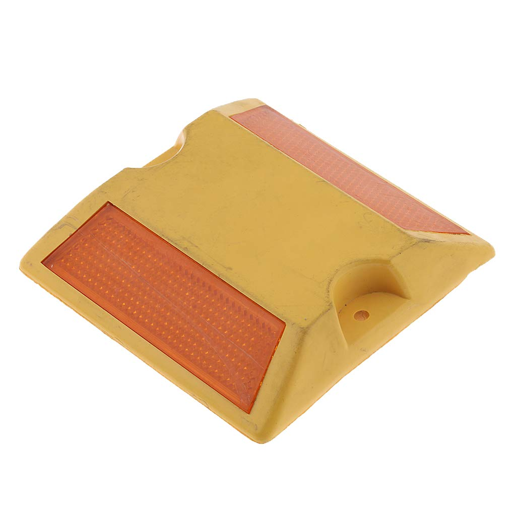 FLAMEER New Commercial 2-Sided Reflector Road Pavement Marker-Yellow
