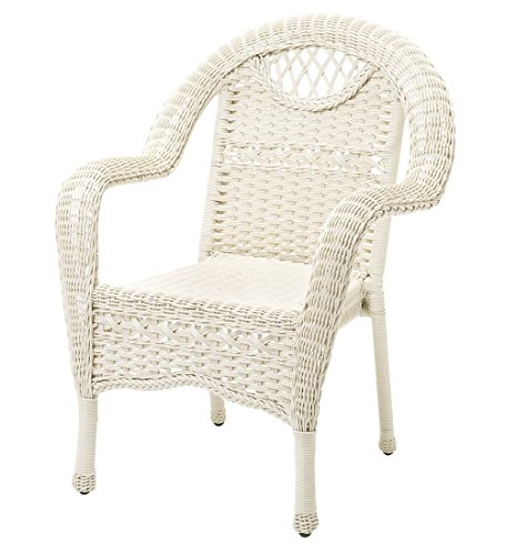 Prospect Hill Outdoor Wicker Dining Chair, Cloud White (Resin Wicker Dining Chairs)