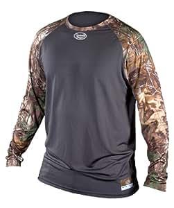 Louisville Slugger Youth Slugger Compression Raglan Short Sleeve Shirt, XT Camo, Small