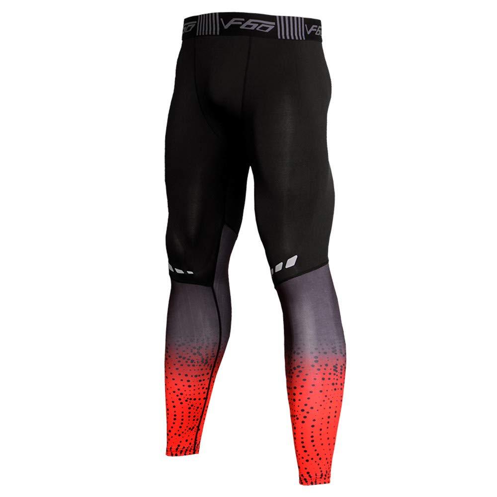 WOCACHI Mens Quick-Drying Leggings Sweatpants Sports Pants Elastic Fit Trousers WOCACHI-181018