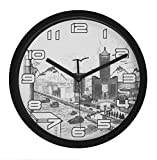 Cheap JustNile Modern Round 10-inch Quiet Wall Clock – City View