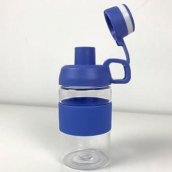 Set de 2 casi indestructible Tritan plástico (tapas de botellas de agua con doble cierre