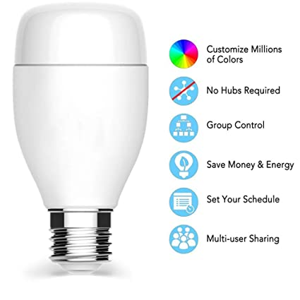 Soldmore7 - Bombilla LED Blanca Inteligente, Temperatura de Color Ajustable, WiFi, Regulable,