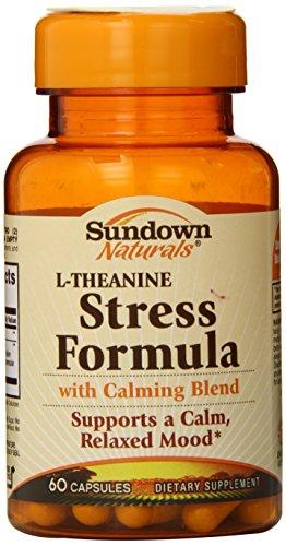 Coucher du soleil Naturals L-théanine Stress formule Capsules, 60 comte