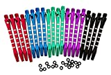 5 Colors/20 Pcs Aluminum Medium Darts Shafts Dart Stems Throwing Fitting with O'ring 53mm