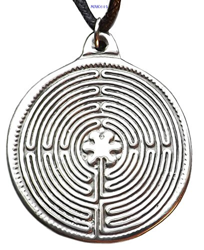 Chartres Labyrinth - Pewter Pendant - Cathedral Sacred Sites, Meditation Jewelry, Grounding - France Mail Class First To