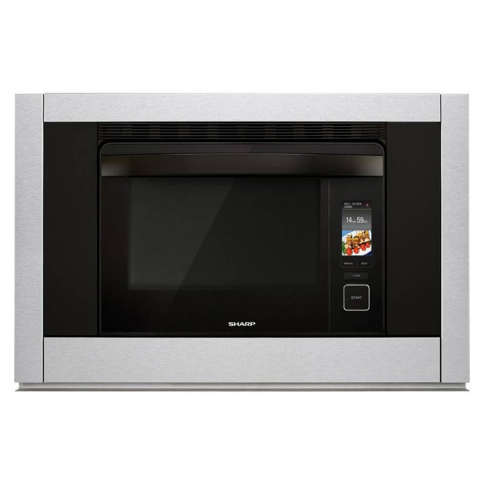 """Sharp SSC3088AS 30"""" SuperHeated Steam Plus Oven with 1.1 Cu. Ft. Capacity Gentle Steam Convection Bake Convection Broil Smart and Easy Controls Smart Cook and Keep Warm Mode in S"""