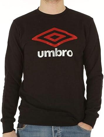 UMBRO - Camiseta de Cuello Redondo para Hombre, de algodón, Sudadera, Color Negro Negro S: Amazon.es: Deportes y aire libre