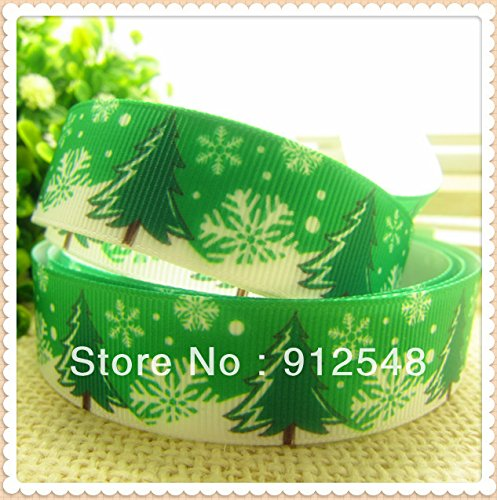 [FunnyCraft 10 Yards 2016 Christmas New Arrive 7/8'' (22Mm) Printed Grosgrain Ribbon Christmas Tree] (Dance Costume Books 2016)