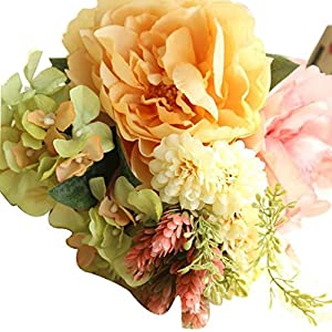 YJYdada Artificial Silk Fake Flowers Peony Floral Wedding Bouquet Bridal Hydrangea Decor (B) 47