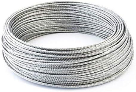 Nologo Qiyuezhuangshi01 Edelstahl-Drahtseil Kabel Rigging Extras, Durchmesser: 1,0 mm,hohe Qualität (Diameter : A1)