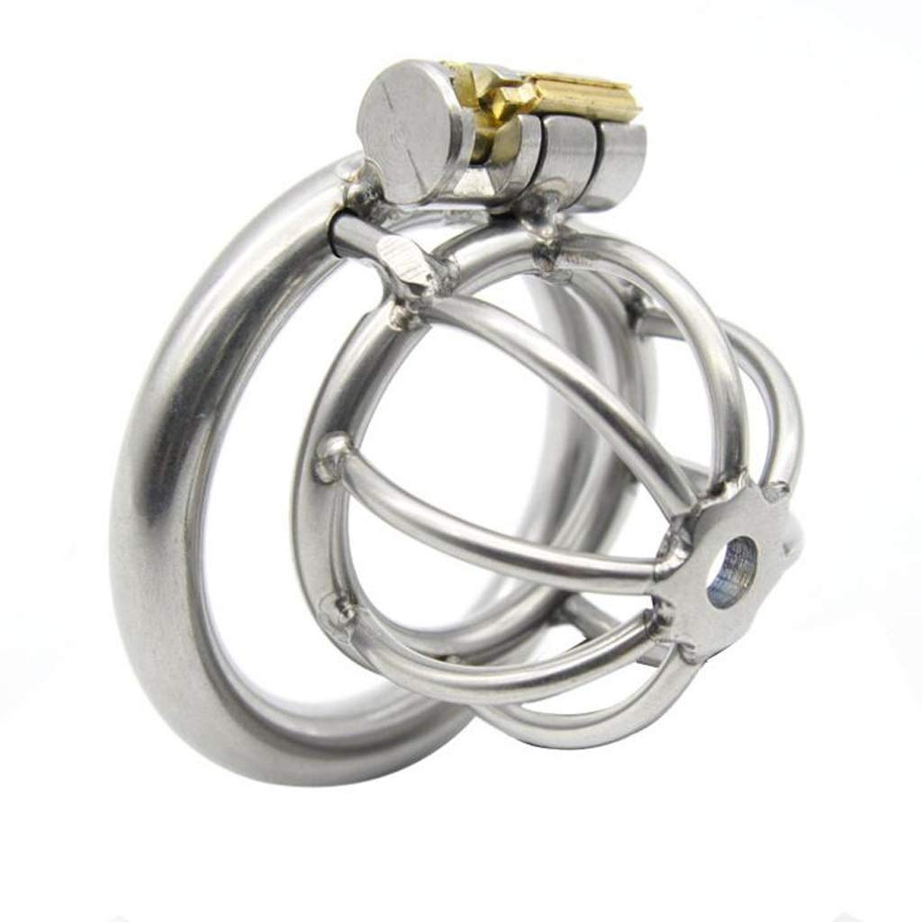 HZH Men's Stainless Steel Breathable Chastity Lock JJ Cage