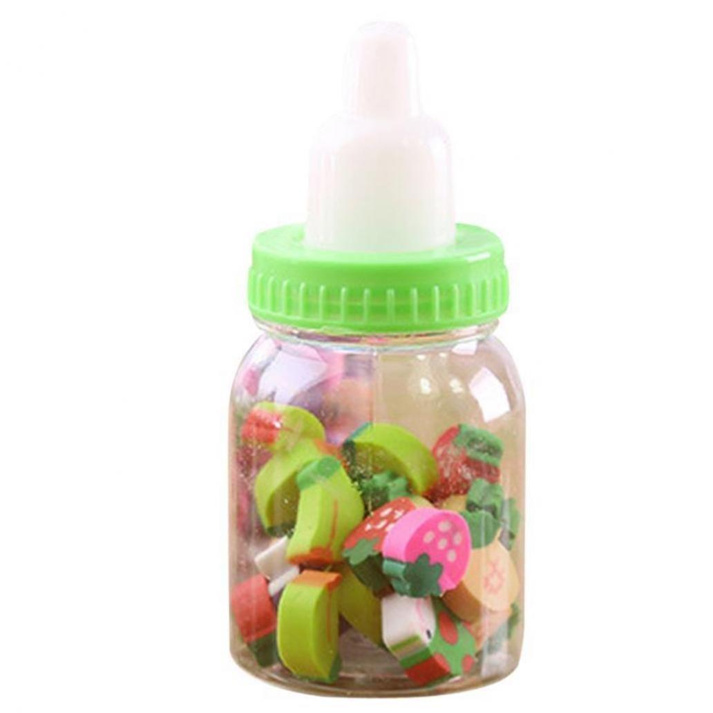Zhouba mini biberon carino frutta gomma gomme regalo per bambini bambini studenti taglia unica Random Color