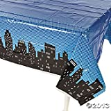 "Toys : Superhero Plastic Table Cover 54""x108"" by Fun Express"