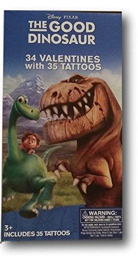 I-class Card (Disney Pixar The Good Dinosaur 34 Valentines with 35 Tattoos (Classroom Exchange Cards Paper Magic))
