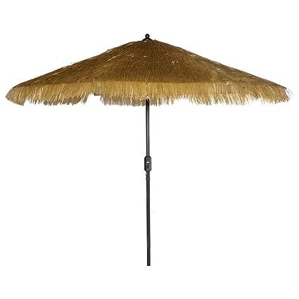 Delicieux Bayside 21 9 Feet Patio Umbrella Market Outdoor Table Umbrella With Auto  Tilt And Crank