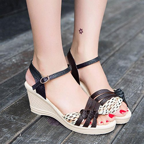 453258bd Nuevo Sandalias Mujer 2018, ❤ Ba Zha HEI Casual Zapatos de Sandalias con  Cuña