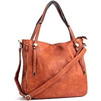 WISHESGEM Women Handbags PU Leather Tote Shoulder Bags Satchel Zipper Cross Body Bags