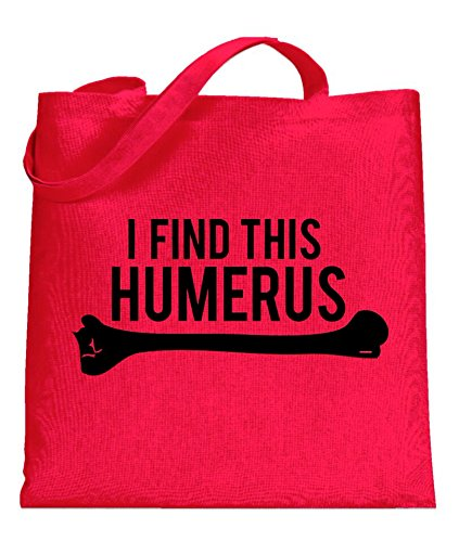 Price comparison product image Crazy Dog I Find This Humerus Funny Skeleton Science Pun Tote Bag standard
