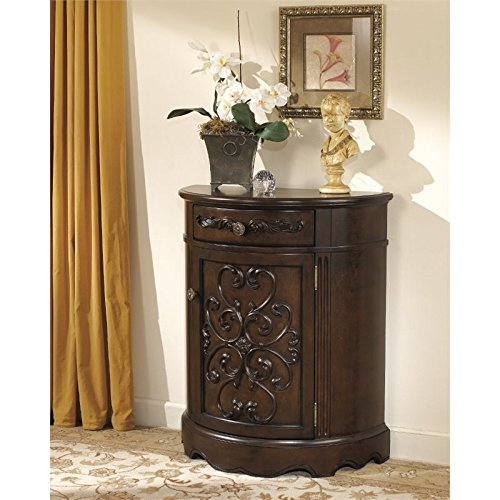Ashley Norcastle Accent Cabinet in Dark Brown by Ashley Furniture